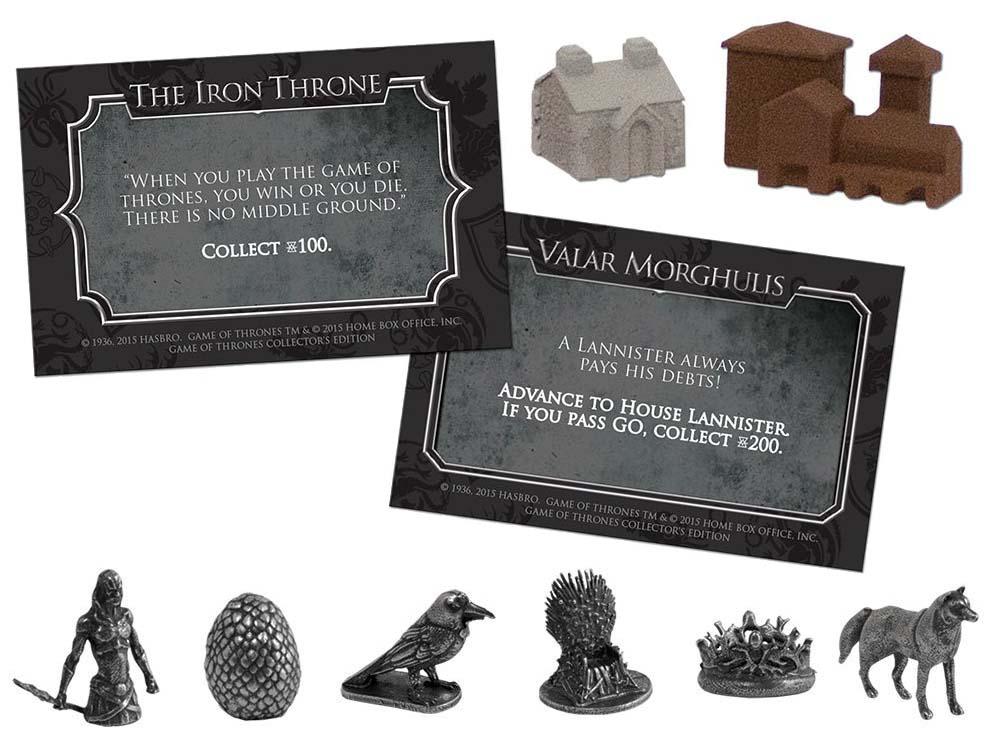accessoire du jeu Monopoly Game of Thrones