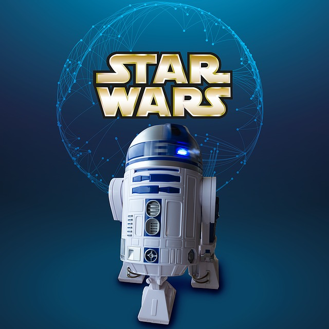 robot et logo star wars